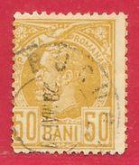 Roumanie N°69 50b Bistre Sur Jaune (BUCURESCI 28 MAI 91) 1885-88 O - 1881-1918: Charles I