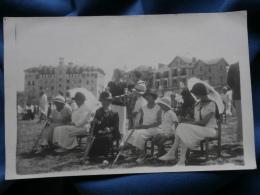 Carte Photo Groupe à La Plage (biarritz, Côte Basque ?)- Vers 1910-20 L325C - Fotografie