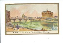 Italie Italia Roma Rome Tibre Castel Sant'Angélo Château St-Ange Chromo Bien 105 X 65 Mm Dos Blanc, Pas De Pub. - Guerin Boutron