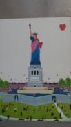 CPM NEW YORK CITY STATUE OF LIBERTY LIBERTE  BY CRISTINA BORONDO - Statue De La Liberté