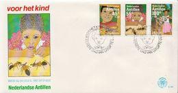 Netherlands Antilles Set And SS On 2 FDCs - Postzegels