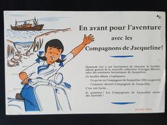 Ancien Buvard Publicitaire, Compagnons De Jacqueline, Collection D'images Menier - Cocoa & Chocolat