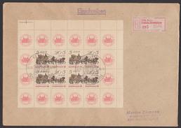 DDR Sozphilex Postgeschichte 1985 Selbstbedienungs-R-Zettel 1020 Berlin -195- Mit Zdr. Ro. - Cartas