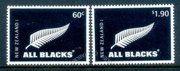 New Zealand 2010 All Blacks National Rugby Team Set Used (SG 3224-25) - Nuova Zelanda