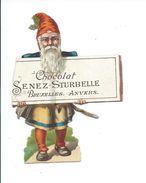 Chocolat Senez-Sturbelle Bruxelles Anvers 115 X 85 Mm Bien Trace De Décollage 2 Scans Découpi - Vieux Papiers