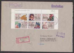DDR Sorbische Volksbräuche Zdr. Mir DV 2716/11 DV Auf R-Brief Aschersleben Zampern Johannisreiter - [6] République Démocratique