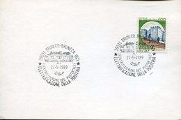 25536 Italia, Special Postmark Brunico Bruneck 1989 Elettrificazione Pusteria Pustertales - Treni