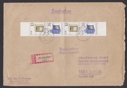 DDR 2924 Briefkästen Senkrechter Zdr. S283 Auf R-Brief Ascherslebenportogenau - Brieven