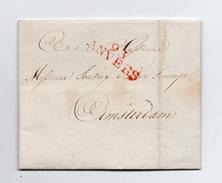 !!! PRIX FIXE : DEPT CONQUIS, 93 DEPARTEMENT DES DEUX NETHES, MARQUE POSTALE D'ANVERS SUR LETTRE DE 1802 - 1792-1815: Départements Conquis