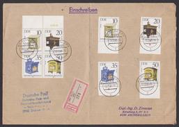 DDR 2924/7 Briefkästen Zdr. Auf R-Brief BERLIN ZPF - Lettere