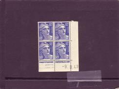 N° 812 - 12F Marianne De GANDON - E De E+F - 2° Tirage Du 1.8.49 Au 19.8.49 - 9.08.1949 - - Coins Datés