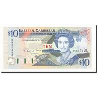 Etats Des Caraibes Orientales, 10 Dollars, Undated (1994), KM:32l, NEUF - Caraïbes Orientales
