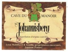 Rare // Etiquette // Johannisberg, Cave Du Manoir,Léon Mabillard Leytron, Valais  // Suisse - Etiquettes