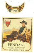 Rare // Etiquette //Fendant 1985, Germain Heritier, Granois-Savièse, Valais  // Suisse - Etiquettes