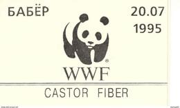 BELARUS, 1995, Booklet A, WWF, 8x300, Castor Fiber - Belarus