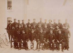 Photo Sur Carton Du 14èm Bataillon De Chasseurs Alpins Officier Vers 1897 - Guerre, Militaire