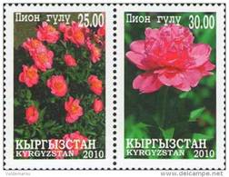 Kyrgyzstan 2010 Mih. 613/14 Flowers. Peonies MNH ** - Kirghizistan