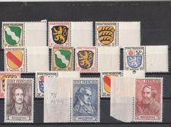 Deutschland Alliierte Besetzung Französische Zone ** 1-13 Wappen Und Dichter Katalog 28,00 - Franse Zone