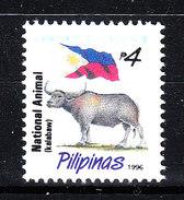 Filippine   Philippines  -  1996. Toro  E  Bandiera. Bull Ang National Flag. . Millesimo 1996. MNH - Vaches