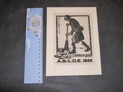 HUBERT DUPONT - PAROLES DE HAINE - A.B.C.D.E. 1929 -n°143/250 - Signé Numéroté. Impression Zinc Ou Cuivre 15/10,5cm - Estampes & Gravures