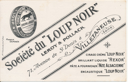 "BUVARD -  Cirage Du ""Loup Noir"" - Buvards, Protège-cahiers Illustrés"