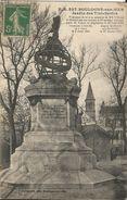 CPA - BOULOGNE SUR MER - JARDIN DES TINTELLERIES-MONUMENT ELEVE A LA MEMOIRE DE MM L'HOSTE ET MANGOT(AVIATION) - Boulogne Sur Mer