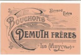 BUVARD -  Bouchons Demuth Frères - Le Muy, Var - Buvards, Protège-cahiers Illustrés