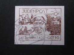 Litzmannstadt 10 Pf. Gestempelt Judaica Ghetto Lodz - REPRODUKTION ! (2) - Besetzungen 1938-45