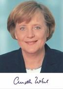 AK Angela Merkel Mit Autogramm Und Lebenslauf - Femmes Célèbres