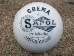 CONTENITORE IN CERAMICA CREMA DA BARBA SAPOL Anni 30 - Beauty Products