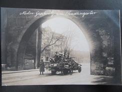 Postkarte Revolution München 1918 1919 - Freikorps / Spartakisten Soldaten Stahlhelm MG Kanone Sendlinger Tor - Guerre 1914-18