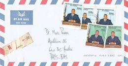 RDC DRC Congo 2013 Bukavu Code Letter J President Kabila Registered Cover - Democratic Republic Of Congo (1997 - ...)