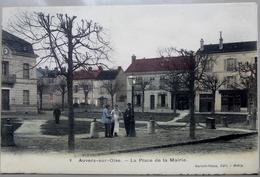 CPA 95 Auvers (sur Oise) La Place De La Mairie - 1905 Animée - Colorisée - Auvers Sur Oise