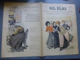 GIL BLAS N°22 Mai 1897, ART NOUVEAU, Steinlen La Bagnole Aux Cerises, 763  Ref G 23 - Boeken, Tijdschriften, Stripverhalen