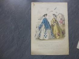 Le Moniteur, TB  Gravure  Colorisée ORIGINALE,  Jules David Vers 1850,    778  Ref G 23 - Stampe & Incisioni