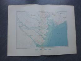 SAIGON,  Carte ORIGINALE Vers 1875 ;  790  Ref G 23 - Cartes Géographiques