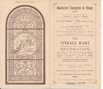 TOURS , Indre Et Loire - Publicité Dépliant - Manufacture De Vitraux, Lux Fournier - Francia