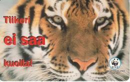 TARJETA DE FINLANDIA CON UN TIGRE (TIGER-TIGRE) WWF - Finlandia