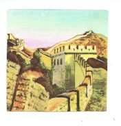 Chromo China Chine Muraille De Chine Great Wall ASIE 55 X 55 Mm Bien 2 Scans - Aiguebelle