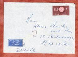 Luftpost, EF Europa, Mallorca Nach Uppsala 1960 (41508) - 1951-60 Briefe U. Dokumente