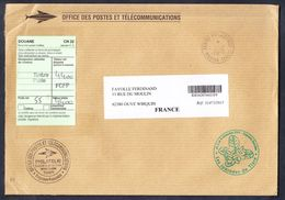FRANCE LETTRE AVEC CERTIFICAT DOUANE 2015 - France