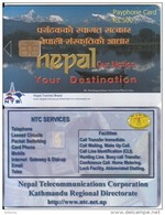 NEPAL - Lake, Our Nation Your Destination, Nepal Telecom Telecard, First Issue R$ 500, Tirage 10000, Sample(no CN) - Nepal