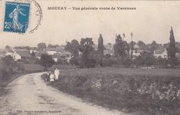 37. MOUZAY . CPA PEU COURANTE . VUE GÉNÉRALE ROUTE DE VARENNES. ANNÉE 1920. ANIMATION - Andere Gemeenten
