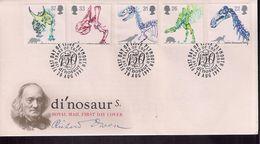 Inglaterra FDC Con Serie Dinosaurios 1991 - Timbres