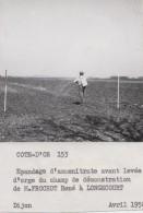 Agriculture - Agronomie - Longecourt 21 Côte D'Or - Epandage D'Ammonitrate - Photo Légendée - 1958 - Cultures