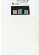 FRANCE - N° 13 + N°14 - 2 EXEMPLAIRES  OBLITERES AVEC PETITS BORD DE FEUILLE -TOUS TB - - 1853-1860 Napoléon III