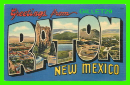 GREETINGS FROM RATON, NEW MEXICO - TRAVEL IN 1949 - - Souvenir De...