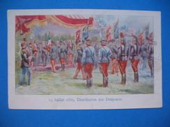 CPA  14 Juillet 1880 , Distribution Des Drapeaux  Voyagé - Geschiedenis