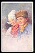 Karl Feiertag - Boy And Girl / Postcard Circulated, 2 Scans - Feiertag, Karl