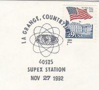 1992 La Grange USA SUPEX COVER EVENT Pmk ENERGY Symbol  Stamps - Sciences